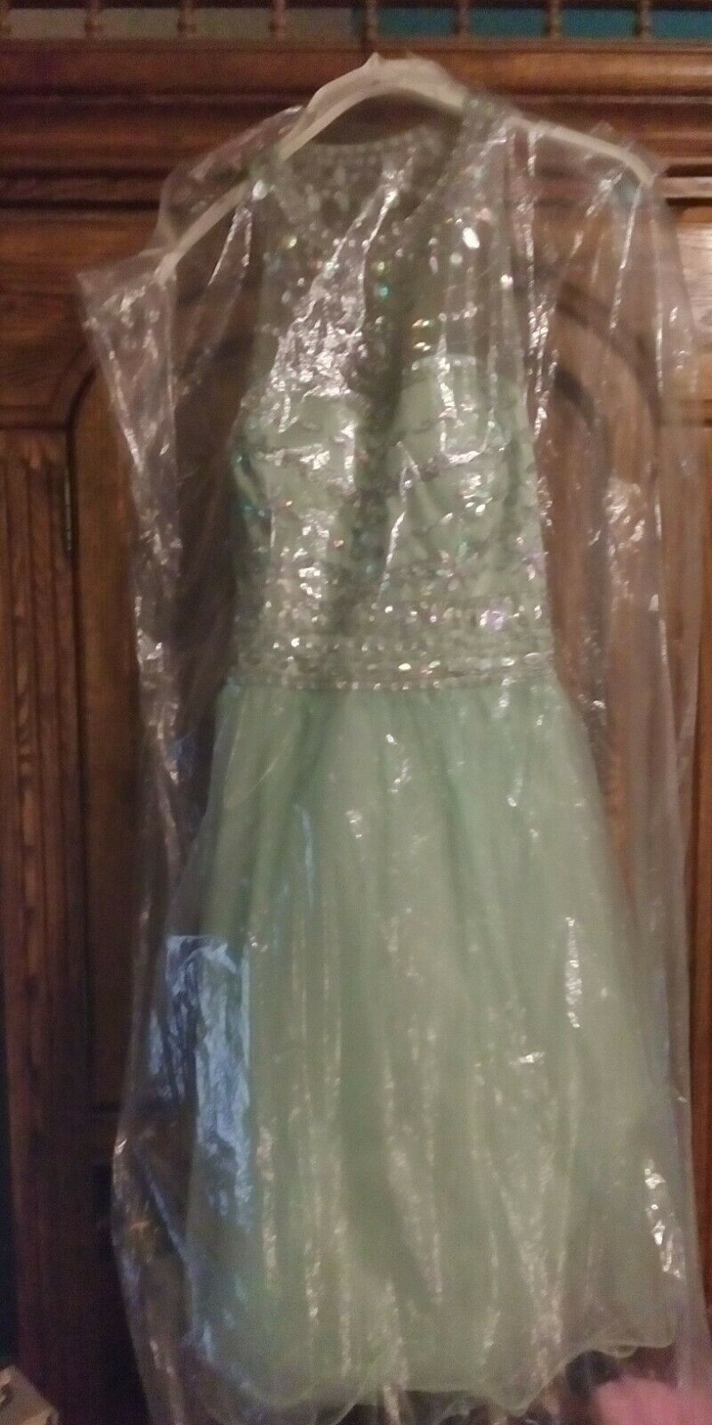 Pastel Green and Rhinestone Ladies Home Coming/Prom/cocktail Dress