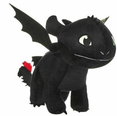 "HOW TO TRAIN YOUR DRAGON THE HIDDEN WORLD TOOTHLESS NIGHTFURY 12/"" PLUSH SOFT TOY"