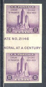 US-Stamp-L1741-Scott-767-Mint-HR-Nice-Imperf-Horizontal-Gutter-Pair