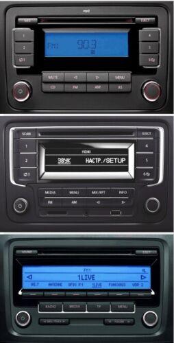 Radio Stéréo Double Din Panneau Avant Fascia Contour Panneau Cage Kit Fits VW Volkswagen