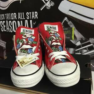 Converse All Star Rolling Stone Painted Chuck Taylor Red Rosso EXCLUSIVE