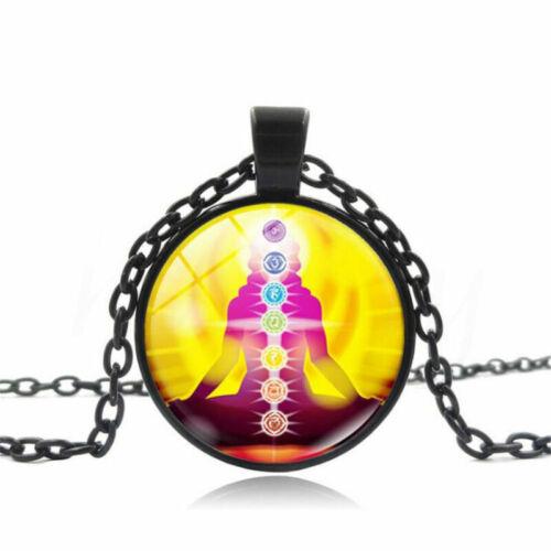 Fashion Chakra Méditation Spirituelle et Yoga Collier Pendentif Chaîne Bijoux Cadeau