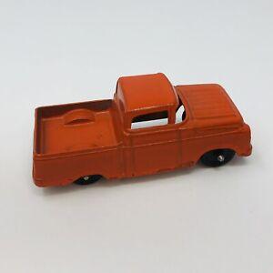 Vintage 1957 Ford Fleetside Pickup Truck Tootsietoy Orange Chicago USA Diecast