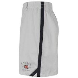 Kangol-Mens-Cotton-Twill-White-S-Shorts-BNWT-30-32-Bred-In-Britain-Brand-New