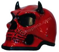 Red Devil Novelty Motorcycle Helmet 3d Skeleton Airbrushed Custom Biker S M L +