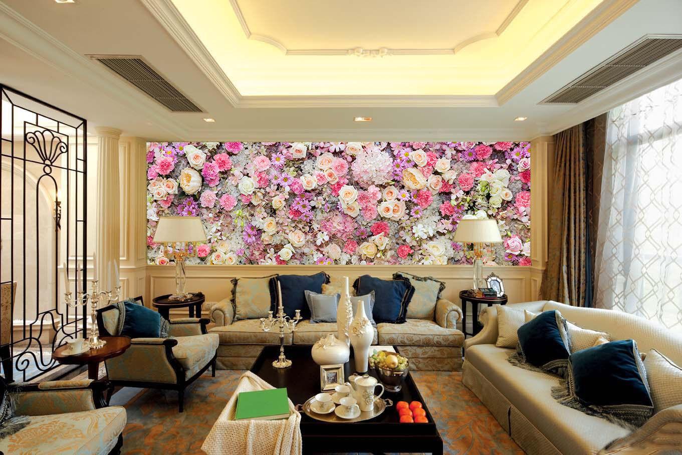 Papel Pintado Mural De Vellón Hermoso Jardín 273 Paisaje Fondo De Pantalla ES AJ