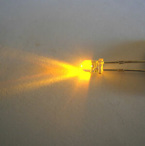 3mm Flicker Type Yellow Led (candle Effect) Une Performance SupéRieure