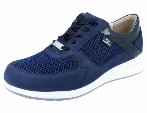 FINN COMFORT Corato Damen Halbschuhe Schnürschuhe blau atoll//electric Leder