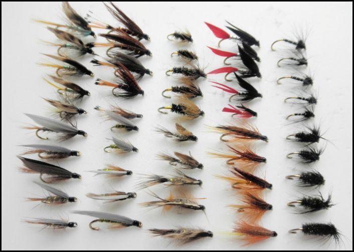 6 Pack White Goldhead Mop Fishing Flies Mop Flies size 10 Hook,