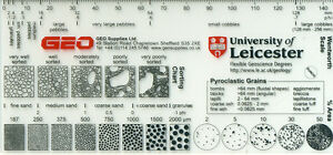 Grain size cards university standard ebay