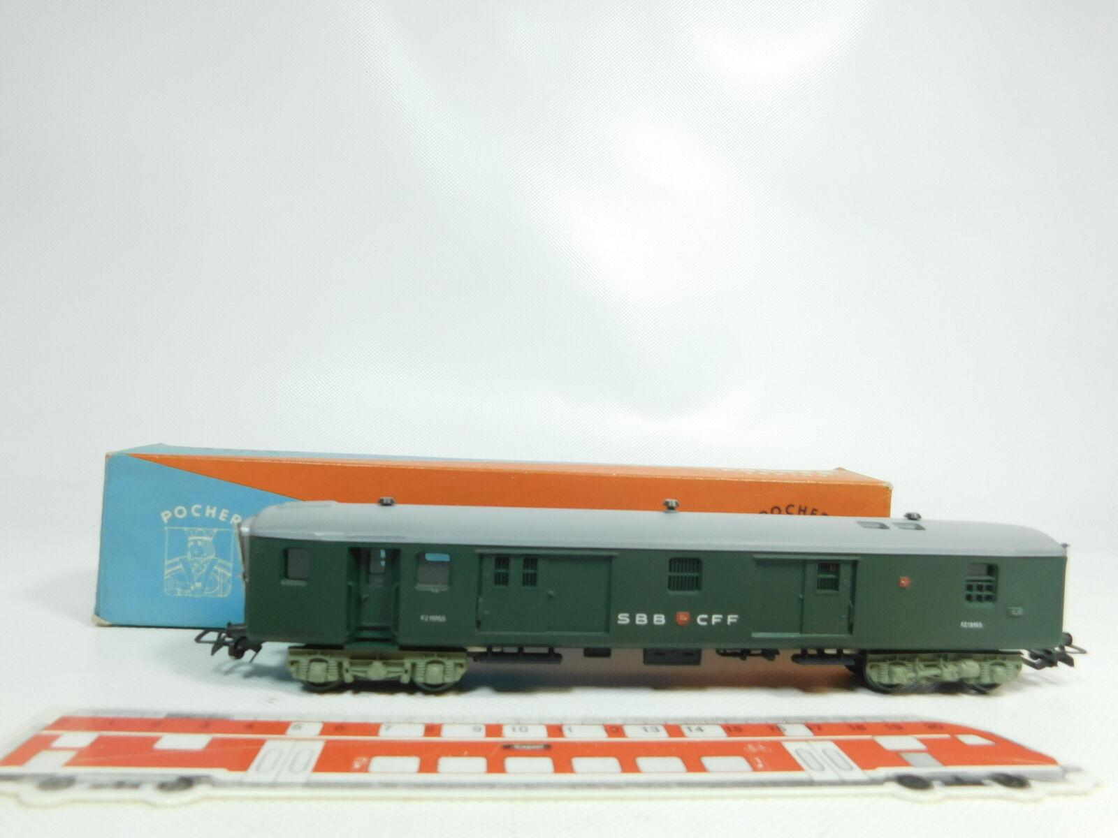 Bj153-0,5 Pocher H0   DC Equipaje Vagón correo FZ 19155 SBB CON LUZ TRASERA,(