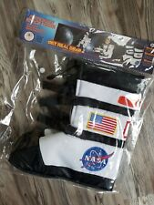 Black Aeromax Astronaut Gloves with NASA patches ASGB-SMALL size Small