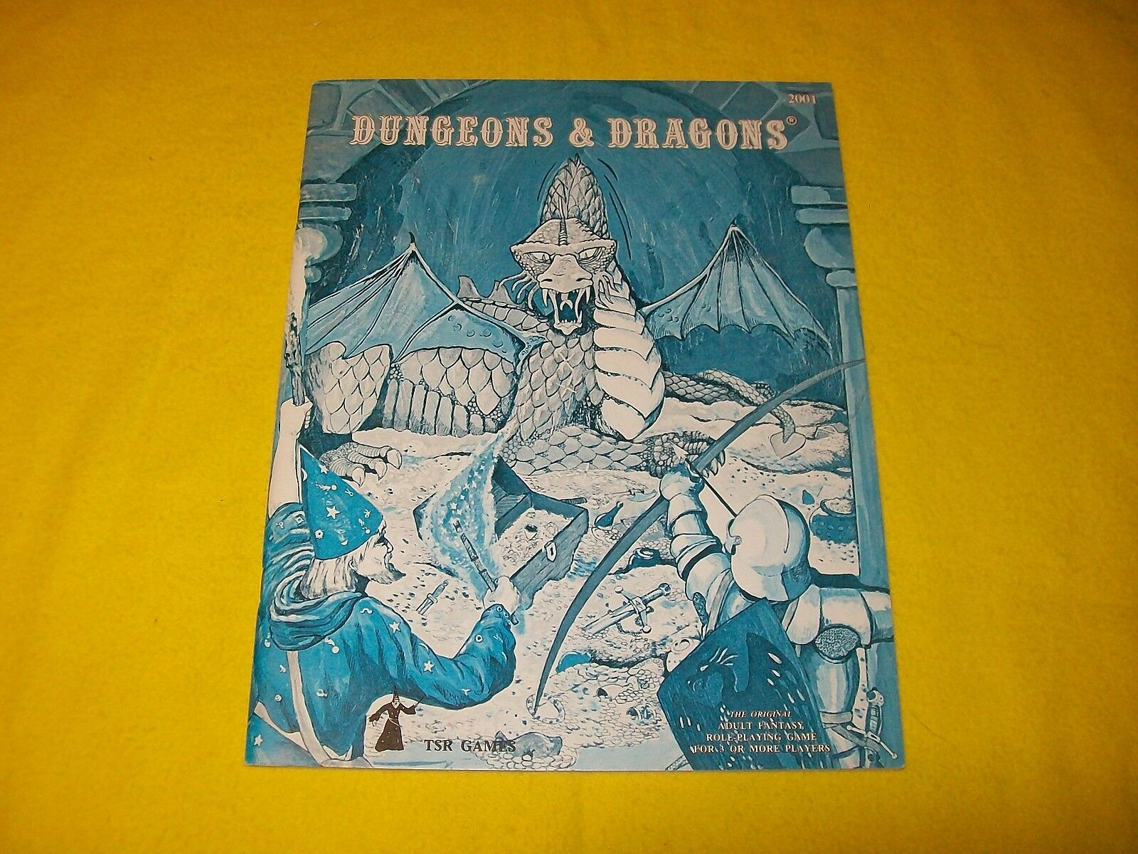 DUNGEONS & DRAGONS BASIC BOOK HOLMES Blau BOOK - 3  WIZARD LOGO