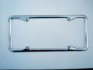 Vintage Chrome License Plate Frame W Square Corners For