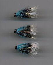 Tube Flies: Blue Charm: 22 mm long all brass bottle tube x 3 (Code 564)