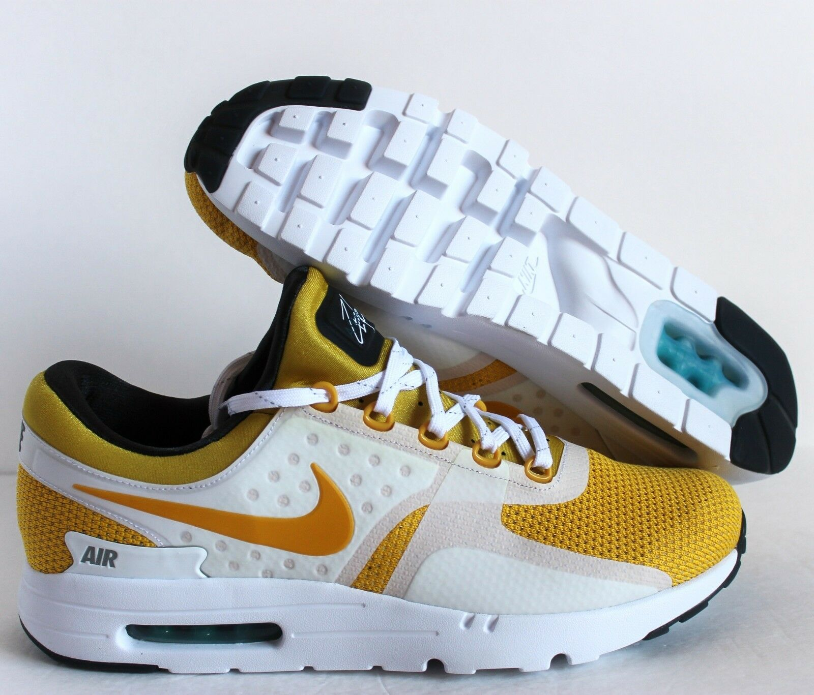 NIKE MEN AIR MAX ZERO QS WHITE-VIVID SULFUR YELLOW-ANTHRACITE SZ 14 [789695-100]