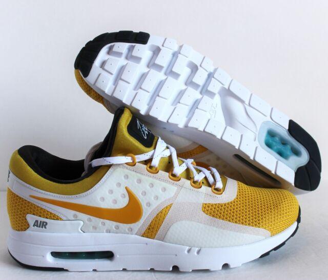 outlet store 62650 c3550 Nike Men Air Max Zero QS White-vivid Sulfur Yellow-anthracite Sz 14  789695-100