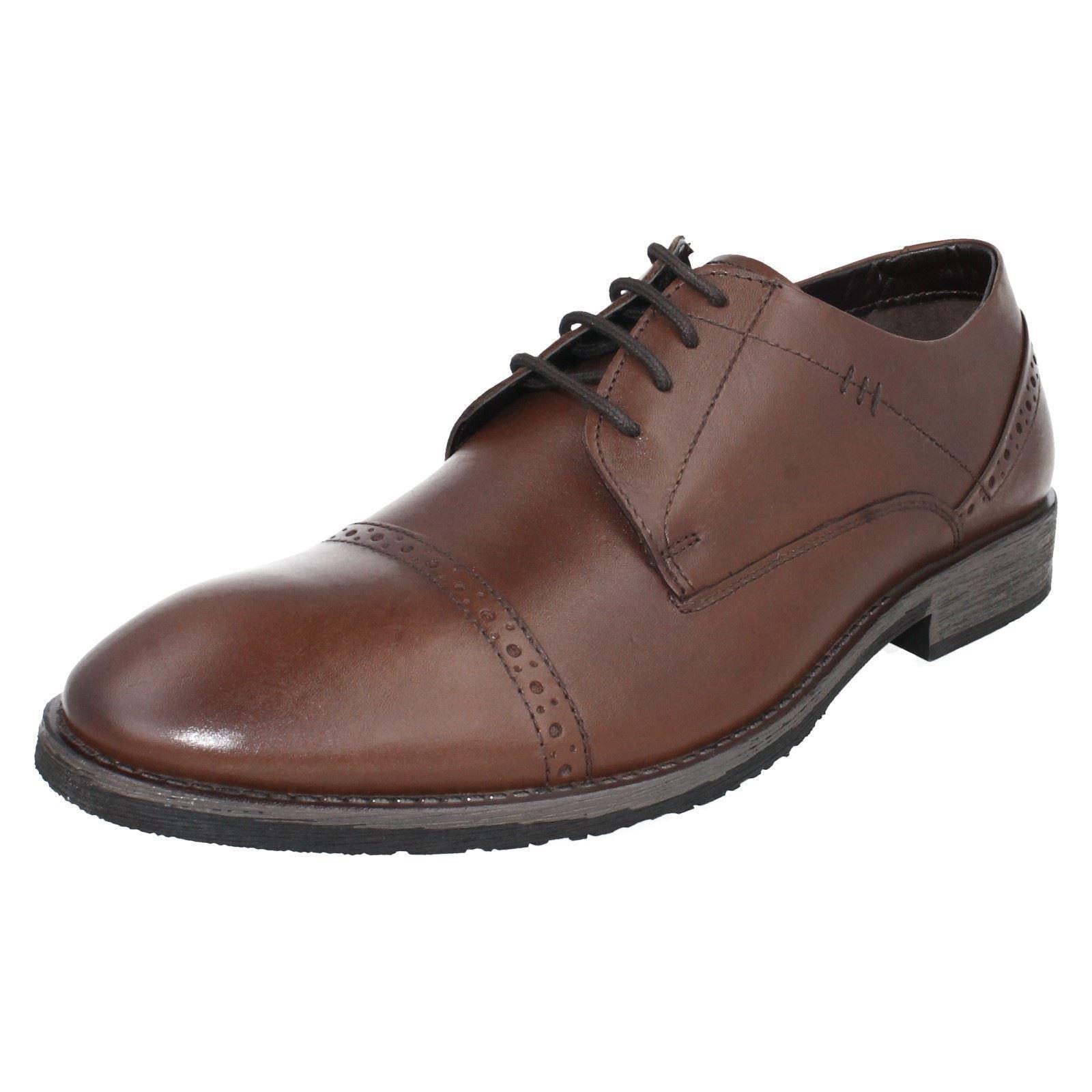 Los últimos zapatos de descuento para hombres y mujeres Hombre Craig Luganda Cuero Con Cordones Zapatos de Hush Puppies