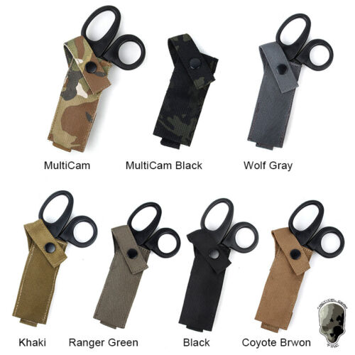 TMC Tactical Molle Scissors Pouch Medic Shears Carrier Sheath Paintball Hunting