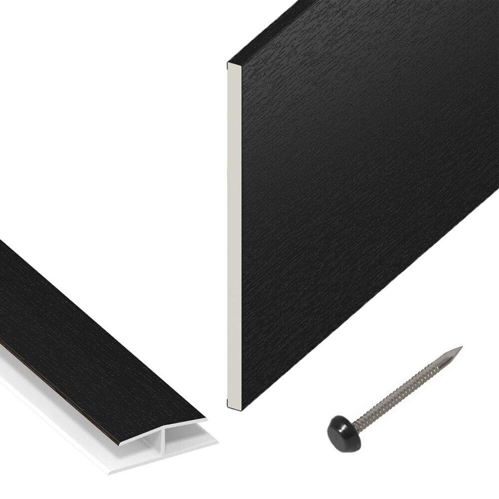Reveal Skirting PVC Plastic Flat Board Utility 1.5m 225mm Soffit White