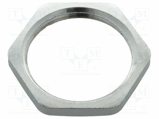 Nut D:3 MM Key: 26mm Brass PG16 Nickel Thread: Pg 52003530 Bolted