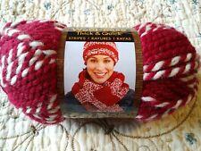 Lion BRAND Nom061923 Wool-ease Thick & Quick Yarn Crimson Stripes