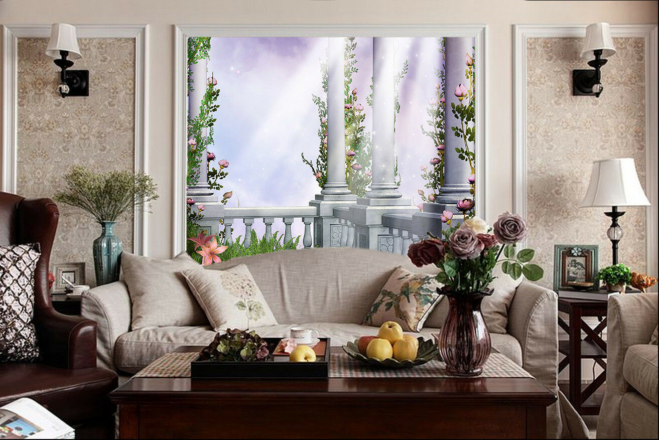 3D Sun Vines Balcony 62 Wall Paper Wall Print Decal Wall Deco Indoor Mural Carly