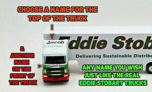 PERSONALISED NAMES Gift Eddie Stobart Lorry Truck 30cm Model Toy Present Boxed
