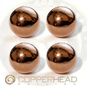 4-x-4oz-Copper-Bullion-Spheres-1-lb-Pound-1-1-8-034-28mm-Native-Energy-Therapy