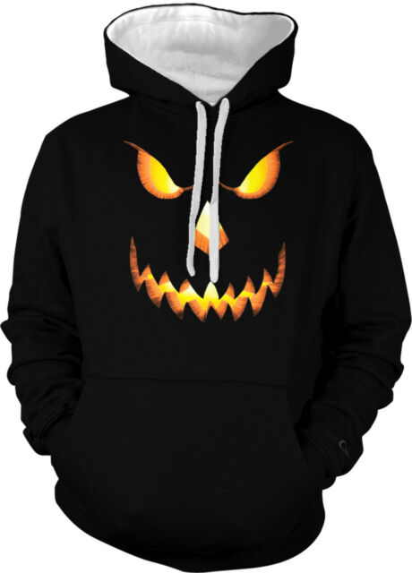 Jack-o-lantern Halloween Evil Pumpkin All Hallows Eve 2-tone Hoodie Pullover