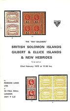 AC. RAY BALDWIN BRITISH SOLOMON ISLANDS GILBERT & ELLICE ISLANDS NEW HEBRIDES