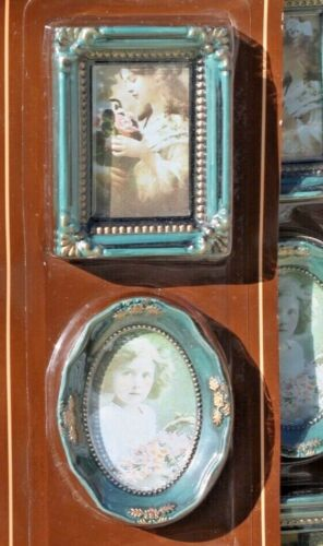 """Lot of 15 Photo Frames Antique Style Plastic 2.5/"""" x 3.5/"""" New in package"""