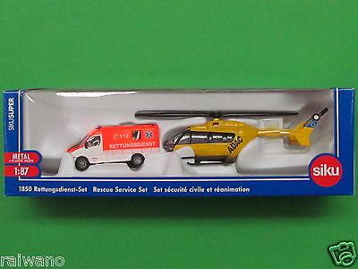 1:87 Siku Super 1850 Rettungsdienst-Set Blitzversand per DHL-Paket
