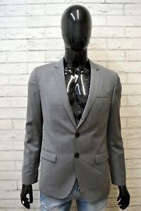 HUGO-BOSS-Giacca-Grigia-Uomo-Blazer-da-Ufficio-Business-Taglia-S-Jacket-Men-Slim