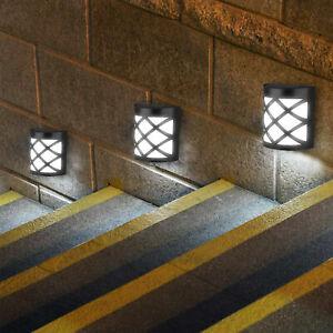 6-LED-Luz-Solar-Sensor-De-Movimiento-Luz-De-Pared-Jardin-Exterior-Patio-Escalera-Lampara-Usa