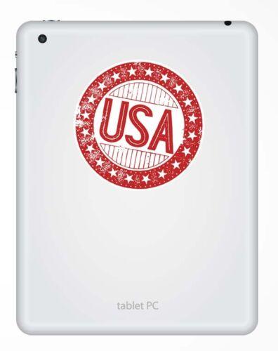 2 x 10cm USA America Vinyl Sticker Decal Laptop Car Travel Luggage Tag #9308