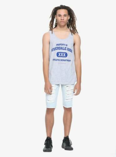 NEW Riverdale High School Athletic Tank Top Gray Mens Size S Small TV Show NWT