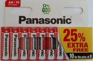 10-x-AA-Genuine-PANASONIC-Zinc-Carbon-Batteries-New-R6-1-5V-Expiry-11-2022