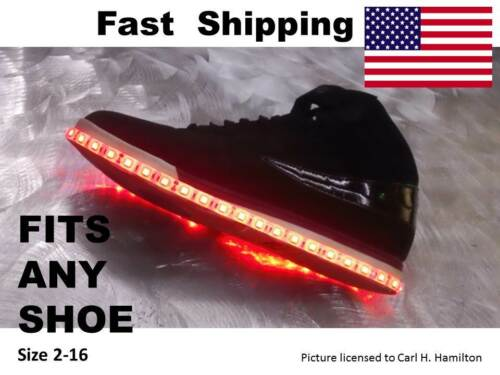 Keep Calm and SMILE More with these LED shoe KITS Mens or Womens ANY SIZE
