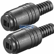 2 Pin DIN Socket Speaker Cable Audio Connector PACK of 2 - Screw Connections
