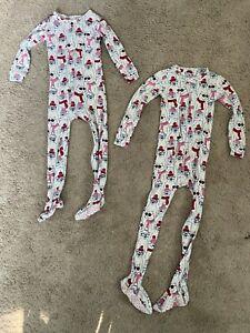 NWT Baby Gap Snowflake Print One Piece Pajamas PJs Sleeper Toddler Girl