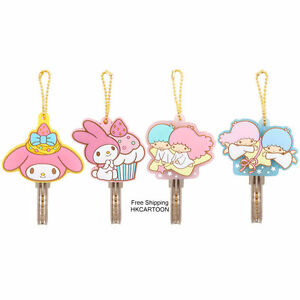 JAPAN-SANRIO-LITTLE-TWIN-STRAS-MY-MELODY-LOVELY-SOFT-PLASTIC-KEYCHAIN-SETS