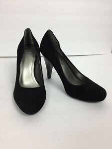 bdba94cf8 Image is loading BCBGeneration-Heels-Sz-6B-Pumps-Black-Suede-Round-