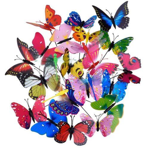 20 Pezzi Palme Da Giardino Farfalle E 4 Pezzi Libellule Puntate Da Giardino D9Y1