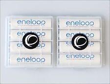 8 x Eneloop Panasonic AA r6 batería + 2x ewanto para guardarlas batteriebox