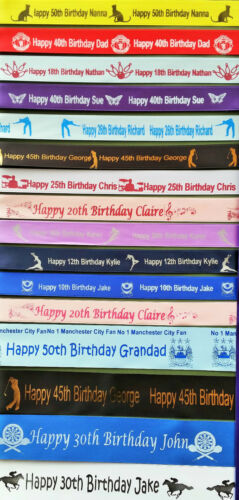 25mm Personalised Ribbon Gift Wrap  Any name//Theme//Birthday//Present Wrapping