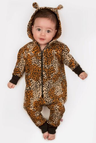 Leopardo Stampa Babygrow OH baby London Orecchie pagliaccetto