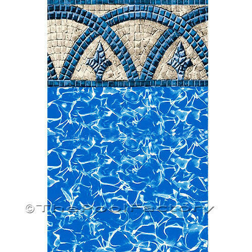 "52"" High Catalina Unibead Above Ground Swimming Pool Liner 25 GAUGE- CHOOSE SIZE"