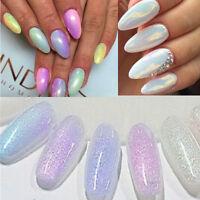 Mermaid Effect Glitter Nail Art Powder Dust Magic Glimmer Trend 5Colors Cool tbu