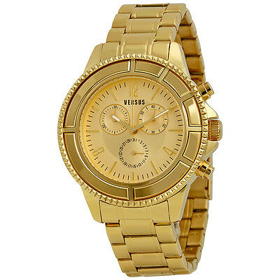 Versus By Versace Tokyo Gold Dial Gold Ion-plated Unisex Watch SGN020013